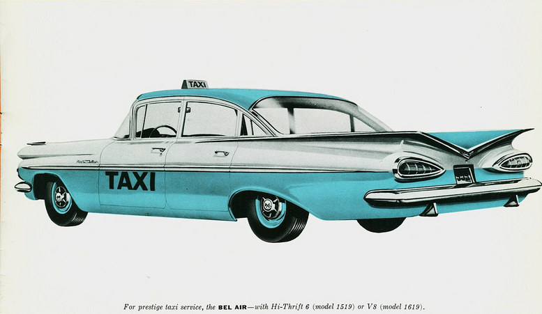 1959 Chevrolet Bel Air Taxi Two-tone
