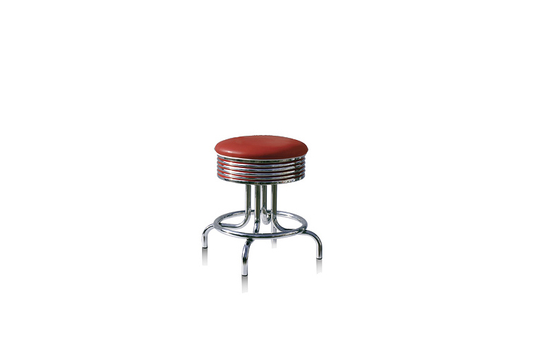 bel air jaren 50 lage barkruk bar stool BS-28-48 ruby