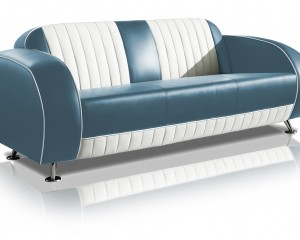belair two tone fifties driezitter sofa couch SF-02CB G63 blue