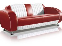 belair two tone fifties driezitter sofa couch SF-02CB G63 ruby