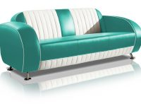 belair two tone fifties driezitter sofa couch SF-02CB G63 turquoise