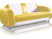 belair two tone fifties driezitter sofa couch SF-02CB G63 yellow