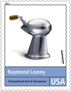 A postage stamp honouring Raymond Loewy Design series. Loewy designed the U