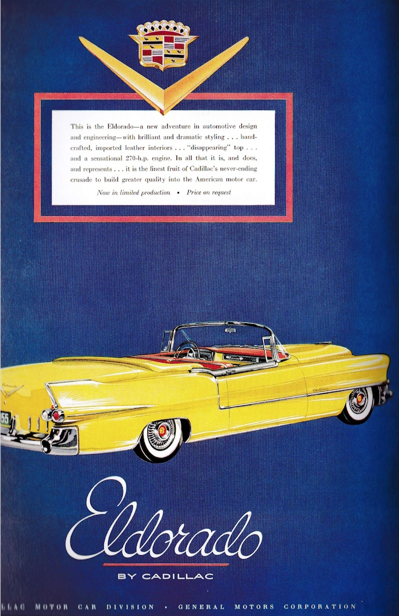 Cadillac Eldorado fifties advertising