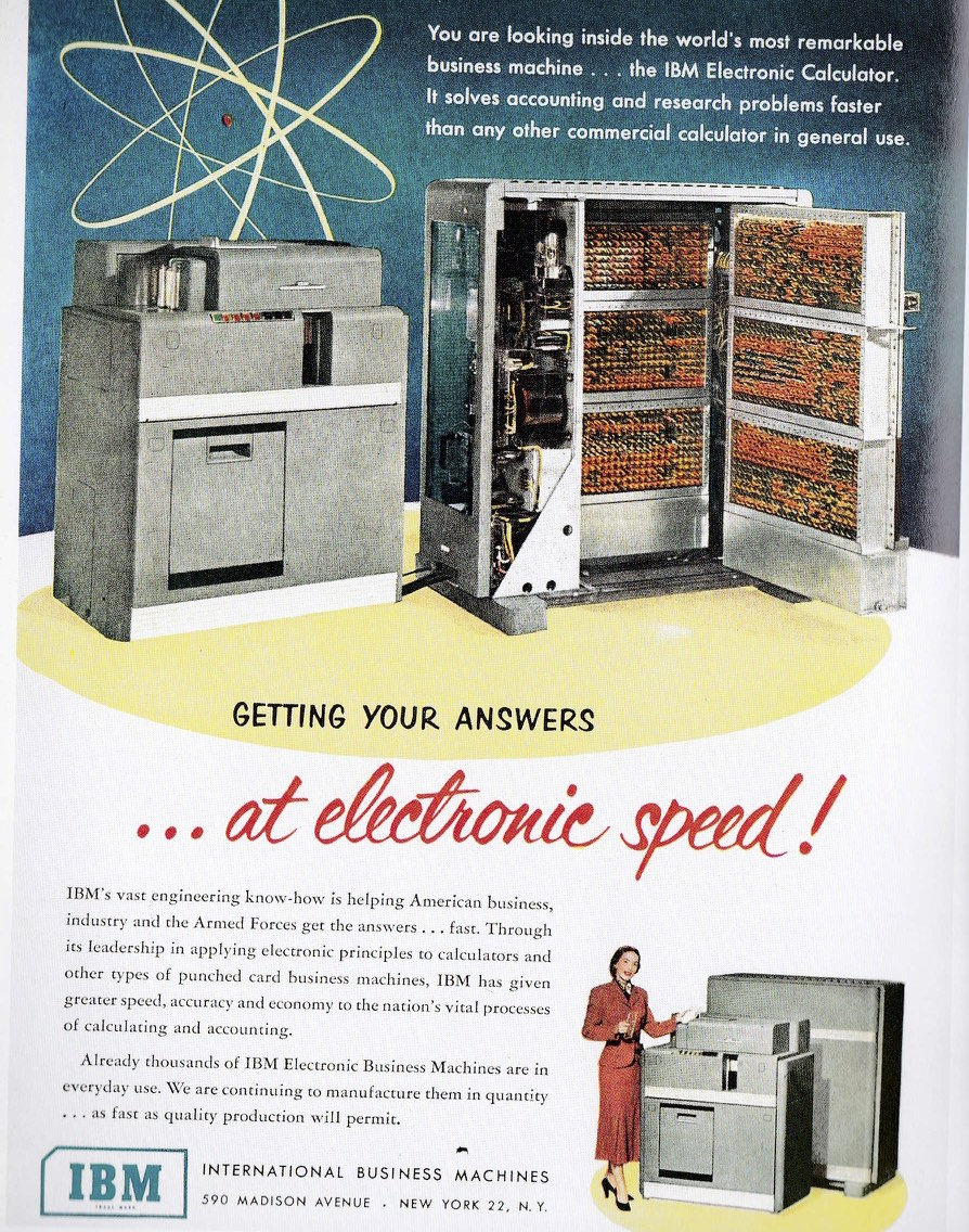 fifties advertising IMB computer